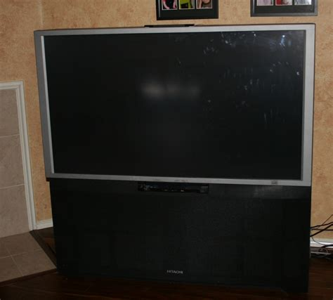 I Have A Big Screen Rear Projection Hitachi Television