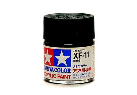 Tamiya Acrylic Mini Xf 11 J N Green tamiya model color acrylic paint xf 11 j n green net 23ml 81311 ebay