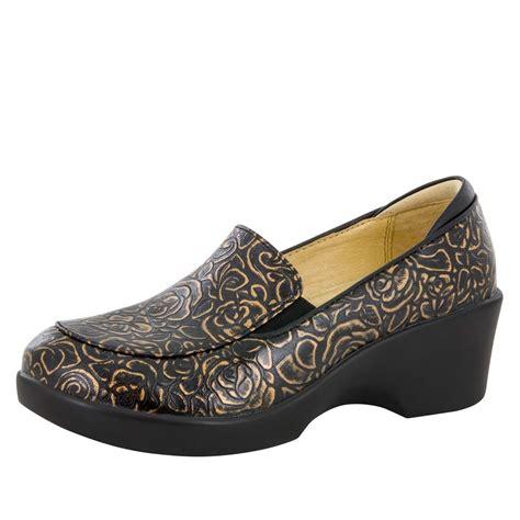 alegria shoes alegria shoes bronze bouquet dress loafer alegria