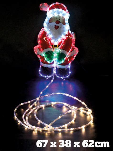 rope light santa kingfisher novelty santa outdoor rope lights ebay