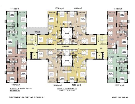 typical floor plan greenfieldcity new flats apartments available at garia
