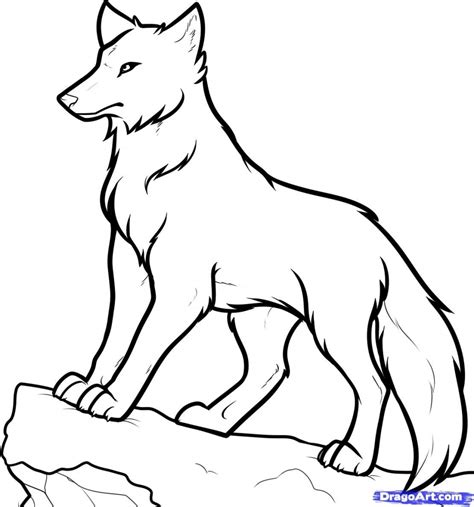 anime wolf drawings easy how to draw animated wolves easy wolf drawings how to draw
