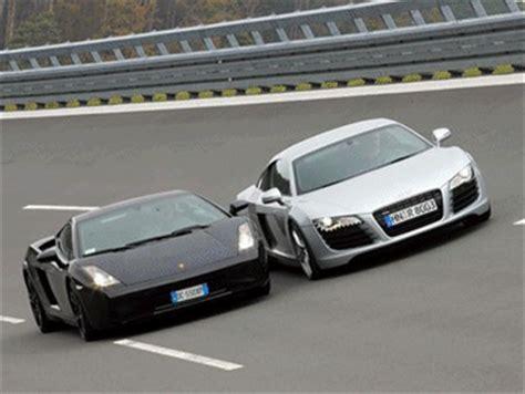 Lamborghini Gallardo Vs Audi R8 Audi R8 Vs Lamborghini Gallardo Le Skyblog Des L
