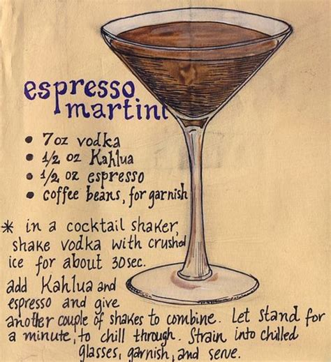 martini ingredients espresso martini recipes dishmaps