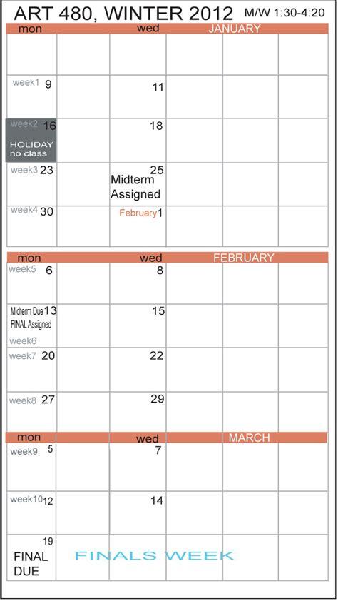 Csula Academic Calendar Csula Calendar 2015 Calendar Template 2016