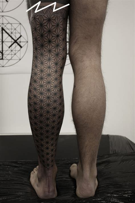 leg sleeve tattoo geometric leg best ideas designs
