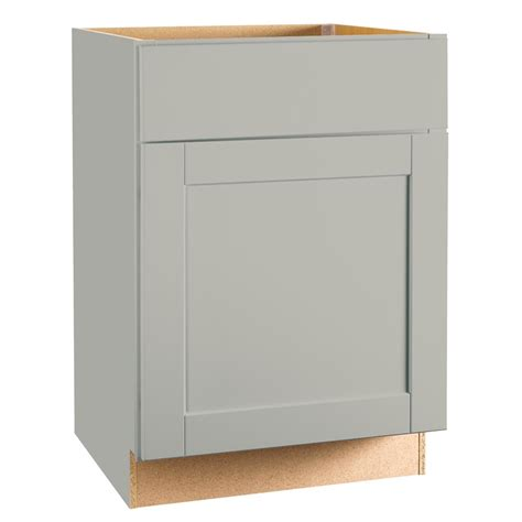 Cabinet Door Glides Hton Bay Shaker Assembled 24x34 5x24 In Base Kitchen Cabinet With Bearing Drawer Glides