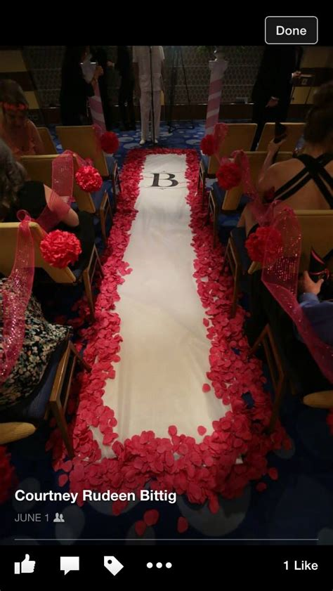 Cruises The Aisle by Carnival Cruise Wedding Ceremony Aisle Runner My