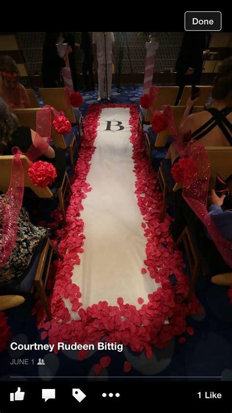 Carnival breeze cruise wedding ceremony aisle runner   My