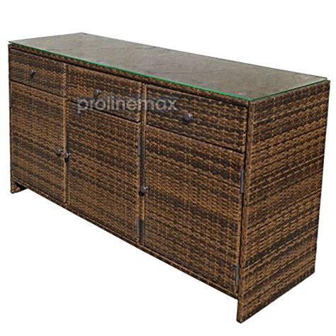 sunjoy wicker outdoor storage cabinet espresso 3 drawers wicker rattan buffet serving cabinet
