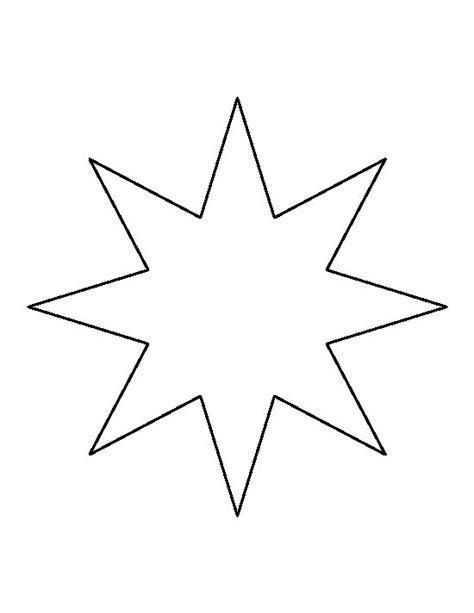 five pointed star template printable invitation template
