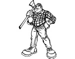 lumberjack coloring pages sketch template