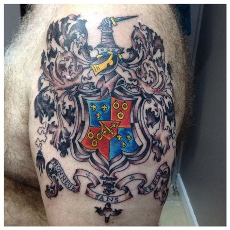 family tattoo bands montgomery family crest by cat johnson tattoonow