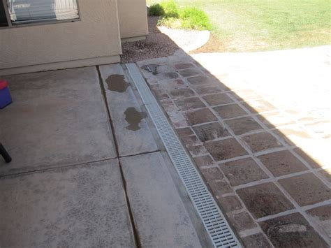 Patio Drainage Channel by Channel Drain