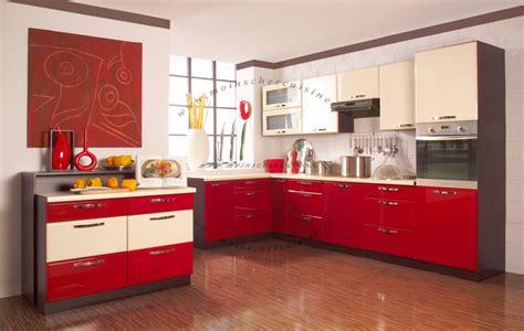 Ideas For Kitchen Cabinets Cuisine Rouge Et Beige