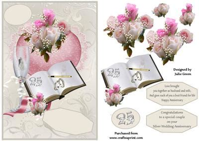 silver wedding wishes cup254304 653 craftsuprint