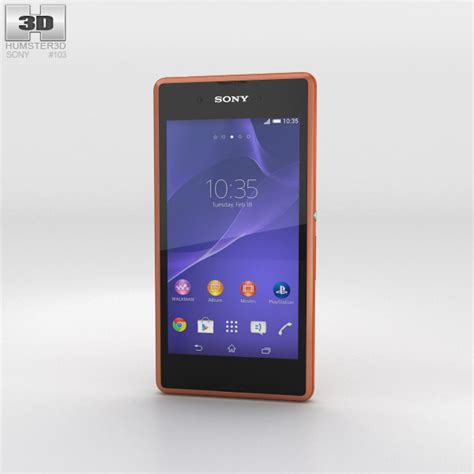 format video xperia e3 sony xperia e3 copper 3d model humster3d