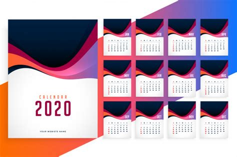 modern   year stylish calendar template  vector