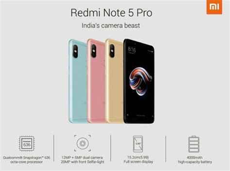 Xiaomi Redmi Pro 5 5 Inc Dual Back Casing Slim Back Covers xiaomi redmi note 5 pro is official specifications list price
