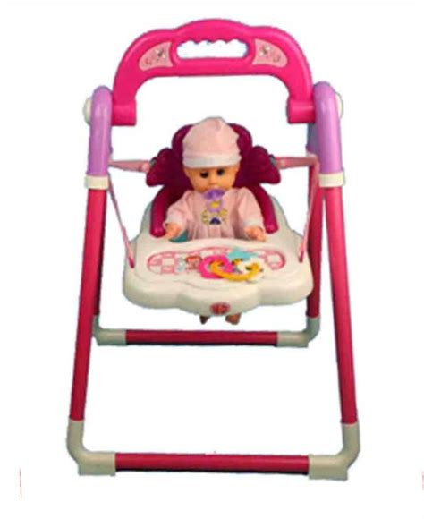 toy baby doll swing a to z childs kids toy rocking swing high chair with baby