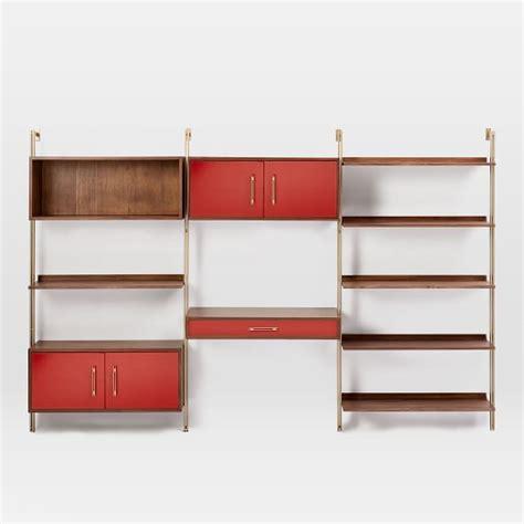 mid century wall desk linden mid century wall desk shelf set with storage