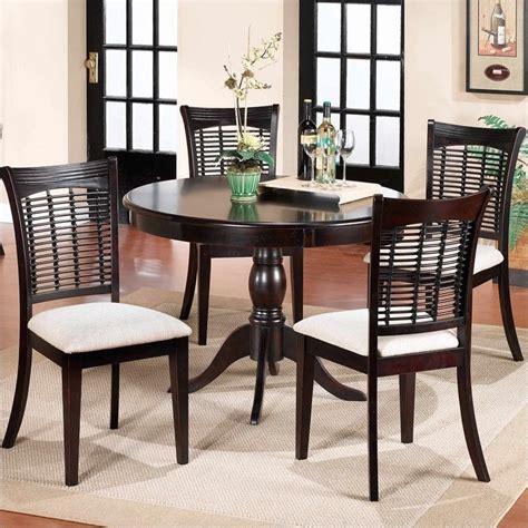 hillsdale bayberry pedestal dining table set in
