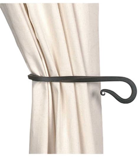 curtain rod tie backs tie backs black wrought iron curtain tie back 9 quot long