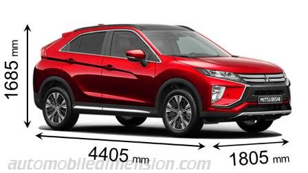 mitsubishi eclipse cross 2018 dimensions, boot space and