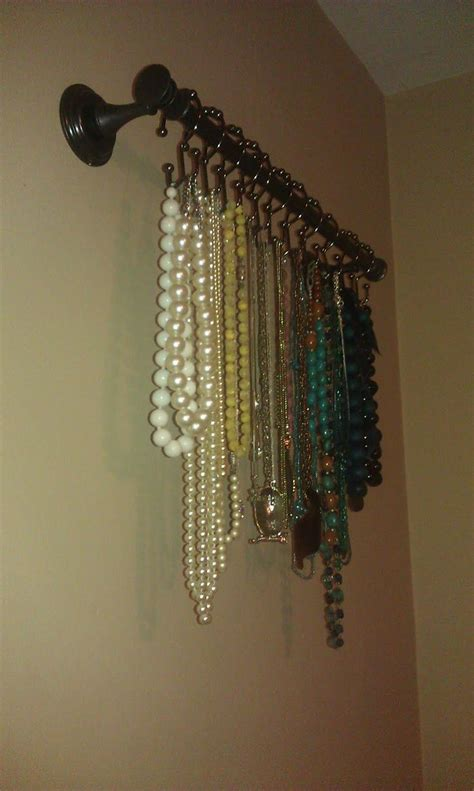 jewelry curtains 1000 ideas about shower rod on pinterest ikea bathroom