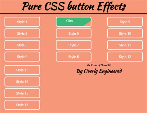 css layout effects 20 code snippets for interactive buttons noupe