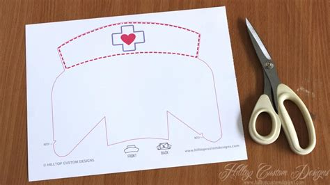 How To Make A Nurses Hat Out Of Paper - best photos of hat cut out printable hat