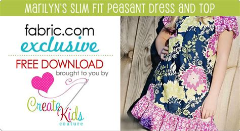 pattern dress download free fabirc com create kids couture free download marilyn s