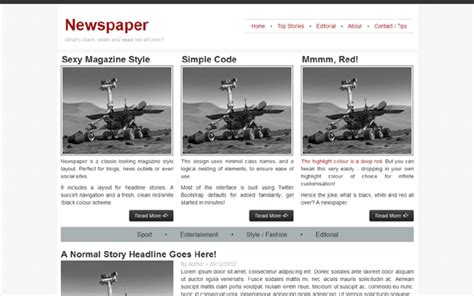 bootstrap templates for news portal newspaper blogs magazines wrapbootstrap bootstrap