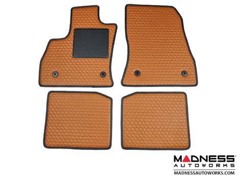 fiat 500l floor mats set of 4 caramel leather fiat