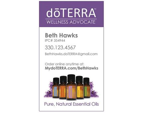 doterra business card template the world s catalog of ideas