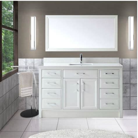 calais 60 inch transitional single sink bathroom vanity