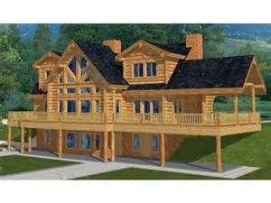 two story house plan with walkout basement log house plans at eplans com country log house