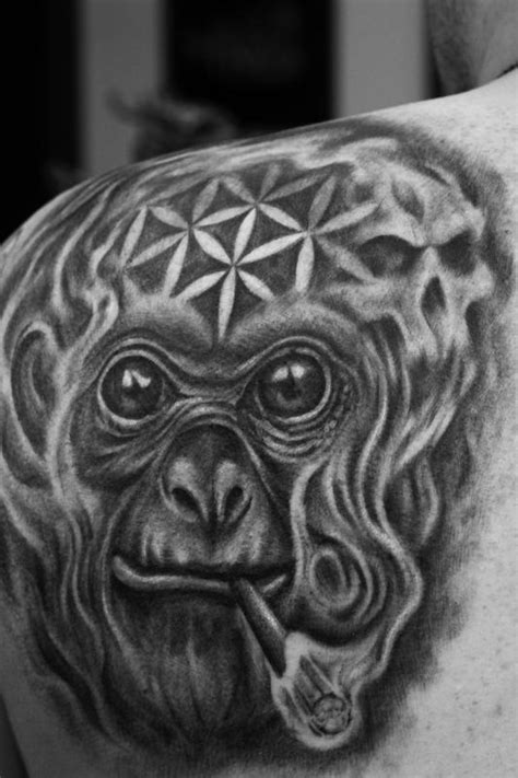 dmt tattoo dmt monkey by capone tattoonow