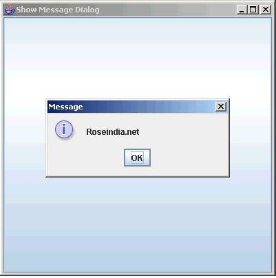 java swing dialog show dialog box in java