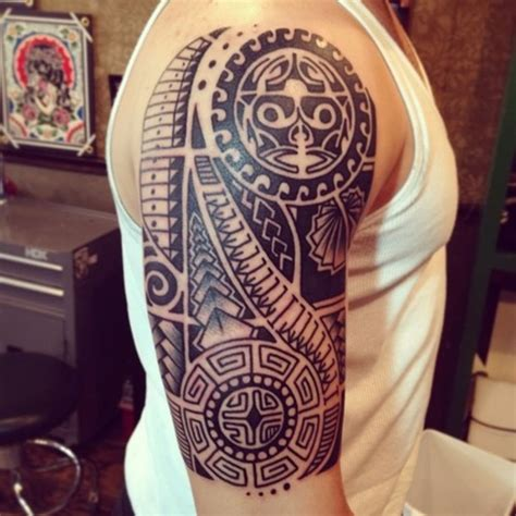 hawaiian tribal tattoos sleeves polynesian tribal sleeve tattoos for polynesian