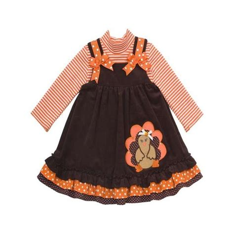 thanksgiving dress toddler editions 2t 4t thanksgiving turkey dress brown boutique jumper ebay