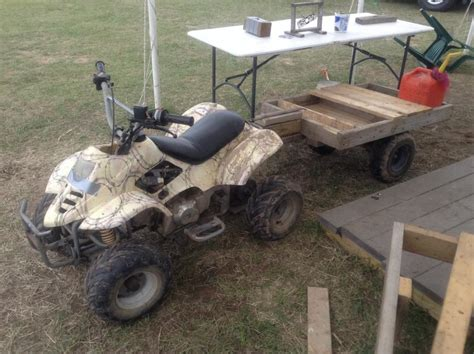 home made trailer atvconnection atv enthusiast community