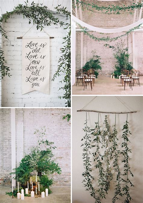 Wedding Backdrop Greenery by The New Rustic Herb Greenery Wedding Decoration Ideas
