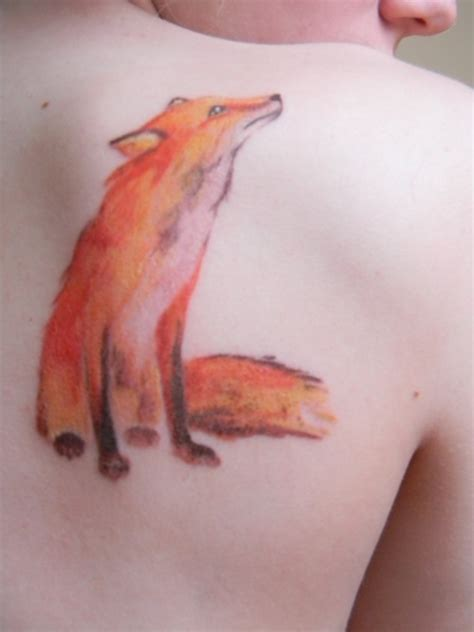 watercolor tattoo fox watercolor inspired fox mod
