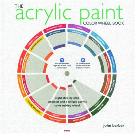 the acrylic paint colour wheel book from supplies