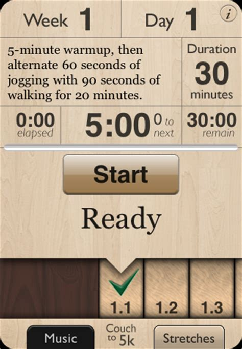 couch to 5k app iphone couch to 5k iphone app helps you work out and get into shape