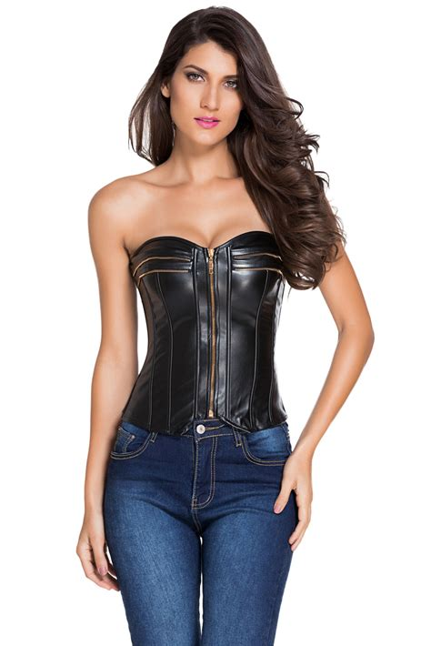 Corset New by Wholesale New Style Leather Bust Corset From China