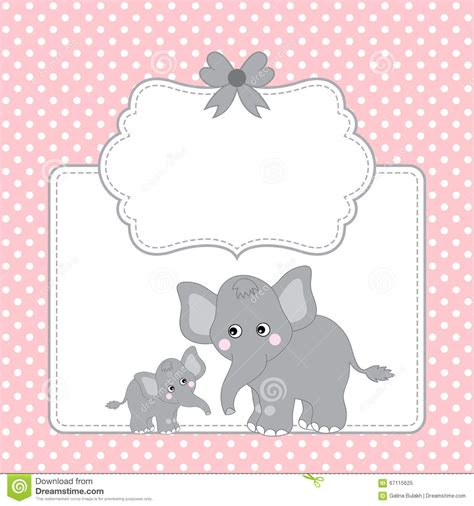Elephant Birthday Card Template by Elephants Card Stock Vector Image 67115625