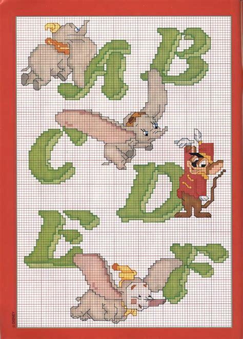 lettere disney punto croce alfabeto punto croce dumbo schemi punto croce