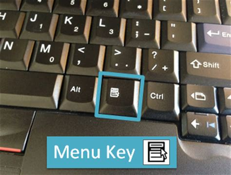 excel keyboard shortcuts for the menu key (right click
